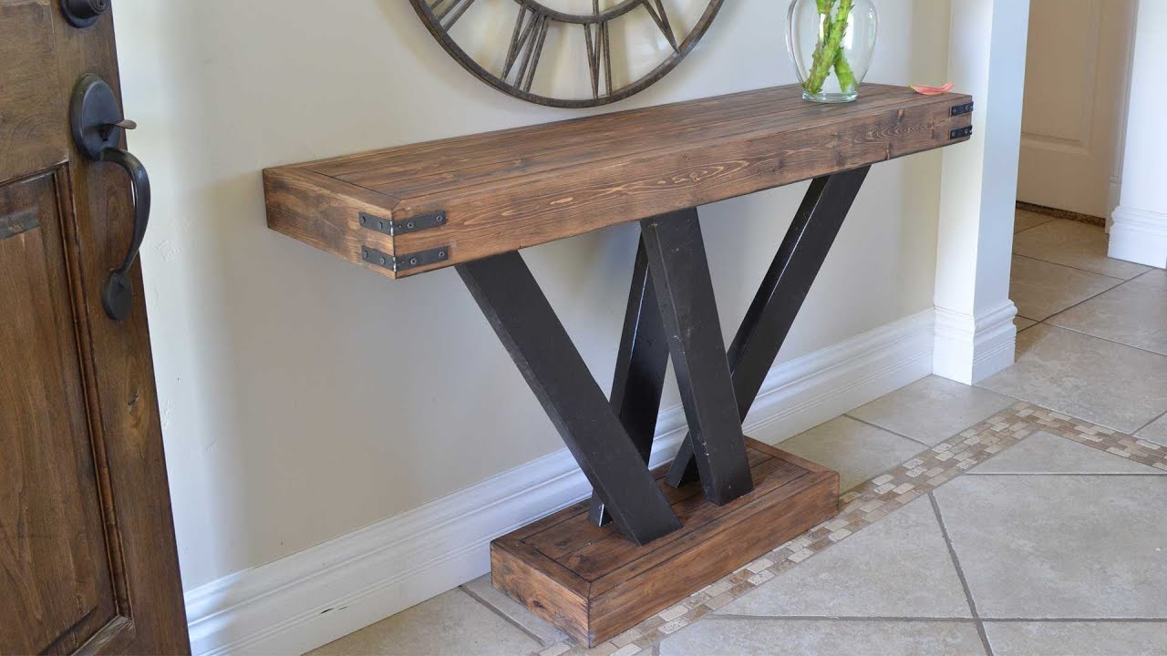 Rustic 2x4 Console Table Build 2x4andmore Youtube