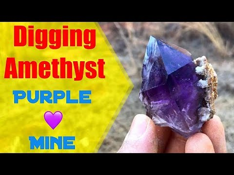 Digging Amethyst Crystals at Purple Heart Mine Part 2