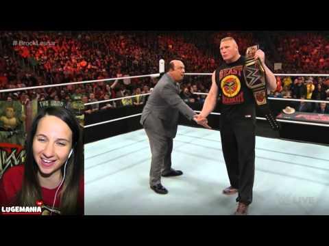 WWE Raw 3/9/15 Brock Lesnar will unite UFC...