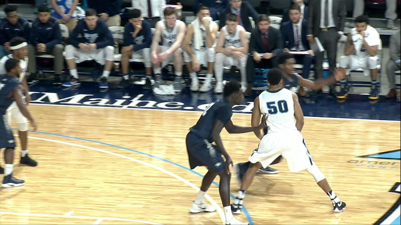Maine Men's Basketball vs UNH highlights - YouTube