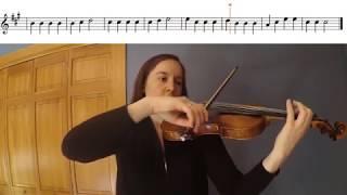 Lightly Row Violin Duet Play-a-Long