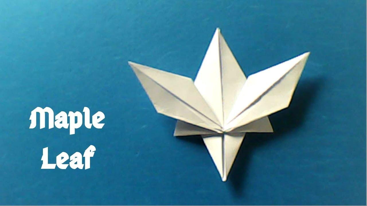 ম্যাপল লিফ || How to make a maple leaf (Origami ... - photo#23