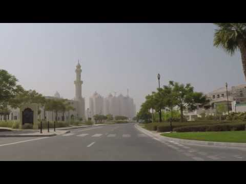 Doha, Qatar - Driving around The Pearl Qatar - HD Quality