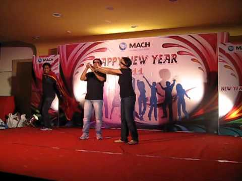 Dhentenden - Mach Bangalore Finance team New year Bash 2011