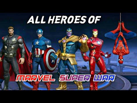 ALL HEROES OF MARVEL SUPER WAR • MARVEL SUPER WAR BEST HERO