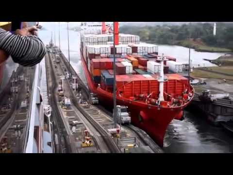 Panama Canal Ship Accident - Towing Mule Crushed