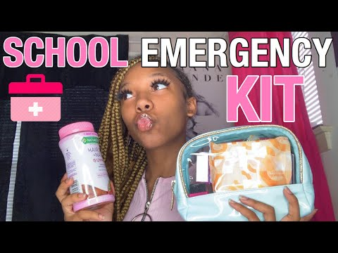 everything you NEED in your school emergency kit 2019