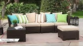 Coral Coast South Isle Natural Sectional Set With Coronado Gas Fire Pit Table Product Review Video Youtube