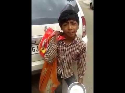 Funny desi gujarati boy sing a song