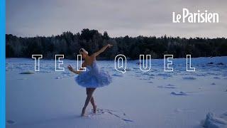 Une ballerine danse sur un lac gelé pour le le sauver d'un projet de construction portuaire