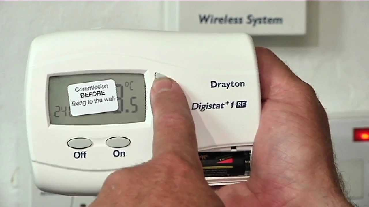 boiler thermostat wiring diagram lewis dot for gold commissioning a wireless room youtube