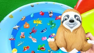 Learn Colors with Wild Zoo and Sea Animals For Kids - Learn Animal Names | Lum Sum Kids