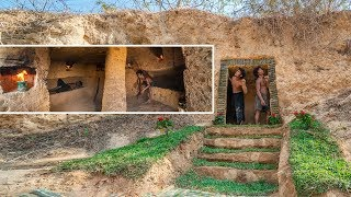 Unbelievable! Dig to build the most secret underground villa house by Ancient Skill