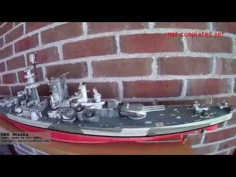 USS Alaska paper model