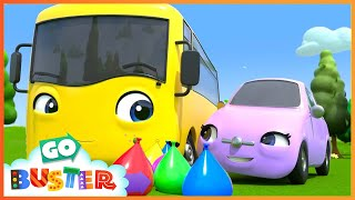 Water Balloon Fight!! - Playing With Friends | Go Buster | Baby Cartoons | Kids Videos