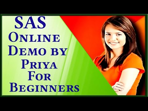 SAS Online Training Video For Beginners