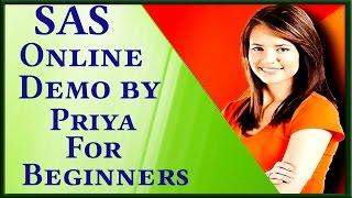 SAS Online Training For Beginners By Priya