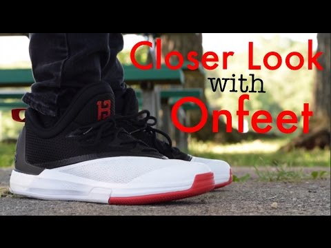 nuez aumento Continental  Adidas Crazylight Boost 2.5 James Harden Closer Look w/ Onfeet - YouTube