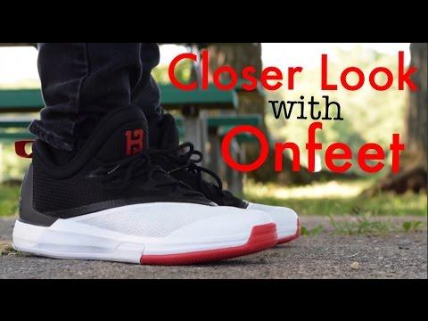 21d95c7d8d60 Adidas Crazylight Boost 2.5 James Harden Closer Look w  Onfeet - YouTube