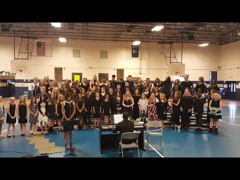 """One call Away"" (Charlie Puth) Kaylin's solo and Gregg Middle School's Final Performance 2018"