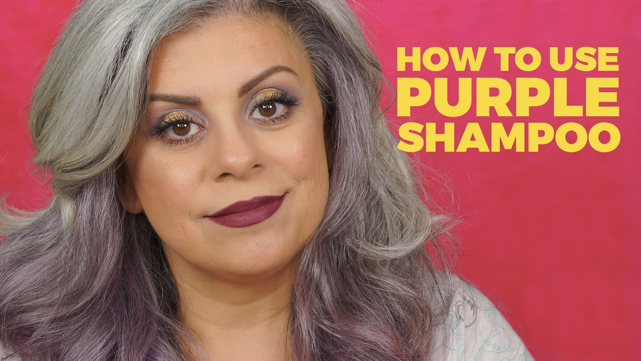 How to Purple Shampoo for Gray Hair - YouTube