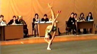 Художественная гимнастика. Булавы. Алёна Виноградова