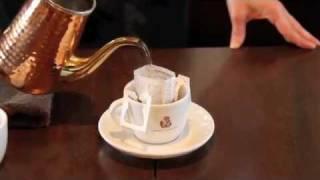 「珈専舎たんぽぽ」の美味しいドリップコーヒーバッグの淹れ方です。 「...