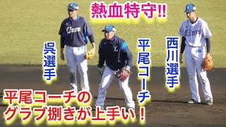 2019年 西武ライオンズ春野キャンプ 平尾コーチの熱血指導!