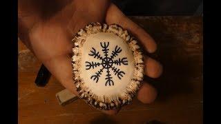 Making the Helm of Awe (Aegishjalmur) viking necklace