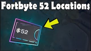 FORTBYTE #52 Locations Accessible With BOT Spray Inside A ROBOT FACTORY [Fortnite Battle Royale]