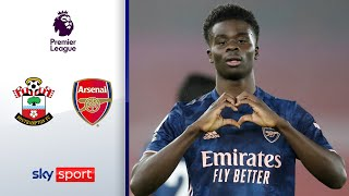Youngster Saka glänzt bei den Gunners | Southampton - Arsenal 1:3 | Highlights - Premier League