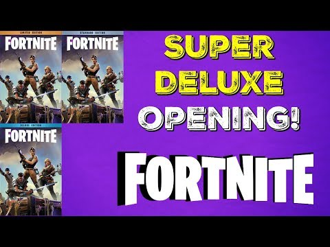 """Fortnite Super Deluxe Edition """"What's Inside?"""""""
