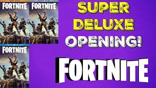 "Fortnite Super Deluxe Edition ""What's Inside?"""