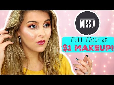 FULL FACE of $1 MAKEUP | SHOP MISS A Hits & Misses | 25+ Products!