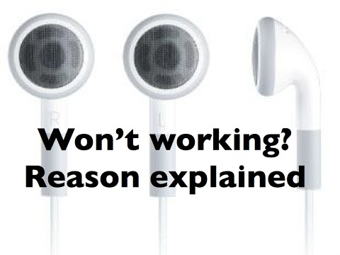 This is why your earphones/headphones don't work