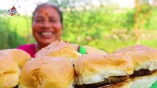 Aloo Tikki Burger Pav Recipe In Hindi by Desi Kitchen