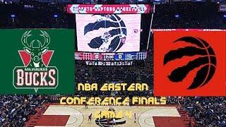 Milwaukee Bucks Vs Toronto Raptors NBA Live Stream Play By Play and Reaction ECF Game 4