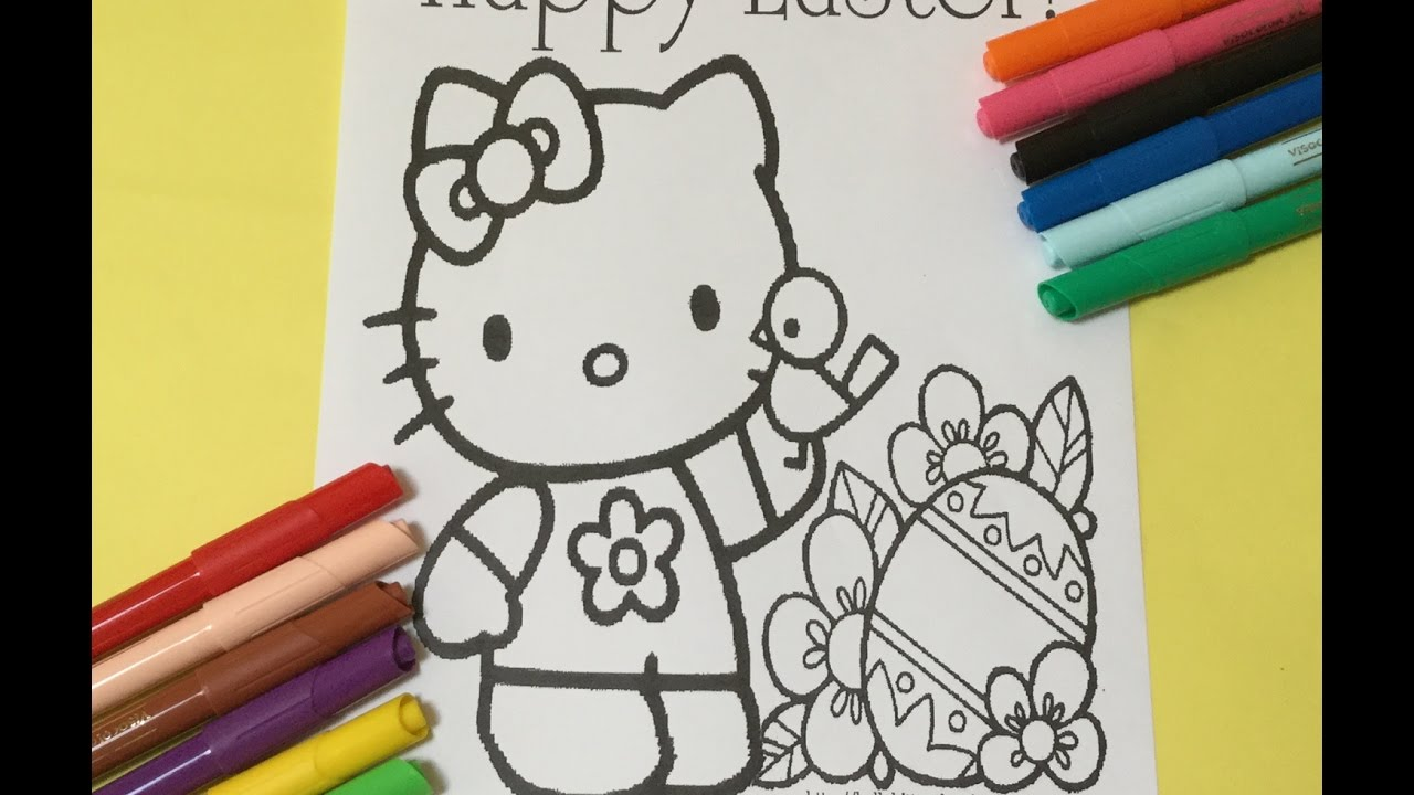 hello kitty easter coloring book lets color happy easter hello kitty coloring pages
