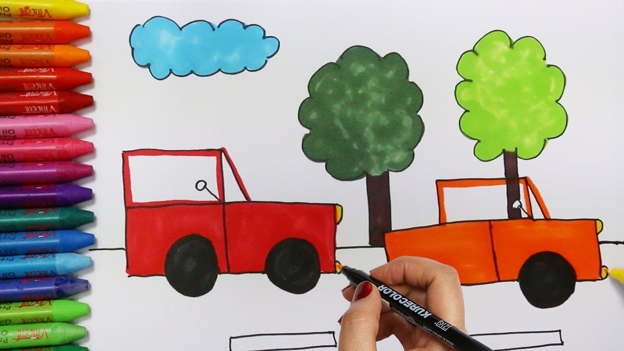 Cara Menggambar Mobil Cara Menggambar Dan Mewarnai Tv Anak By Cara