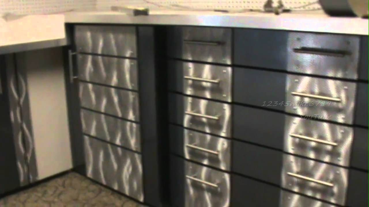 Custom Metal Cabinets Custom Garage Work Shop Cabinet Build And Installation Part 3 Of 3