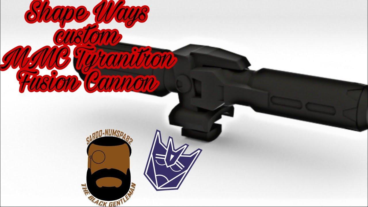 Shapeways Custom MMC Tyranitatron Fusion Cannon Review by Sardo-numspa82
