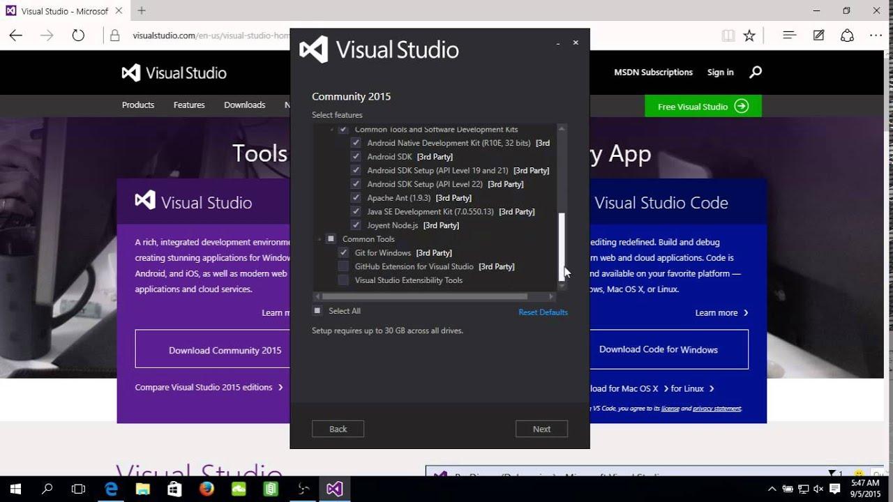 visual studio 2015 community download for windows 7 64 bit