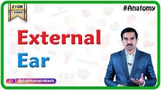 ANATOMY OF EXTERNAL EAR - Dr.G.Bhanu Prakash
