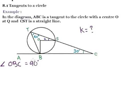 Tangents To A Circle And Angle Between Tangent And Chord Maths