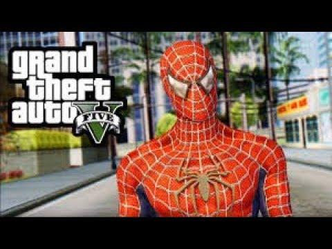 GTA V Funny moments ( spiderman-mod)
