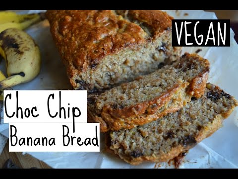SIMPLE VEGAN BANANA BREAD | choc chip style