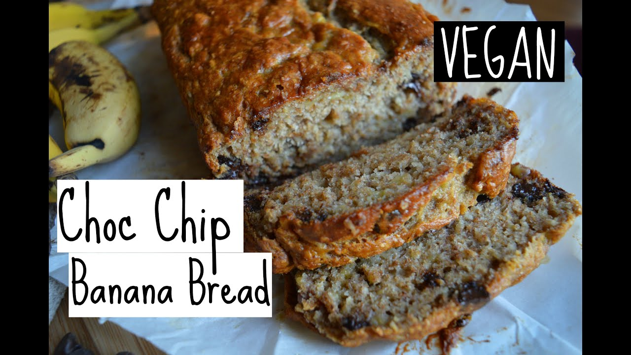 Simple vegan banana bread choc chip style youtube forumfinder Images
