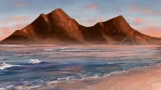 Digital Art Speed Painting Landscape - Ocean Mountain (Corel Painter 2017)