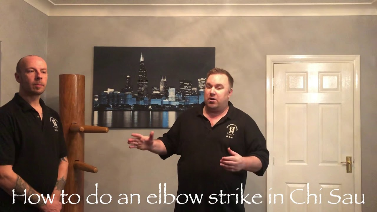 How to do an elbow strike in Chi Sau Ip Man Wing Chun Kung Fu Style