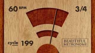 60 BPM 3/4 Wood Metronome HD